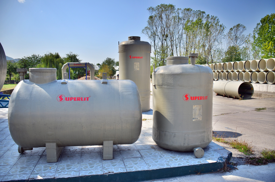 Water Retaining Devices : Tanks and water retention systems superlit pipe industries