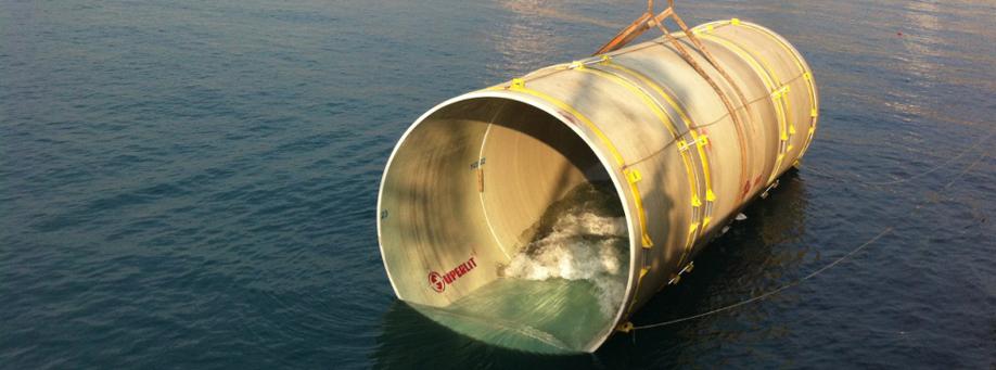 Underwater GRP Pipe