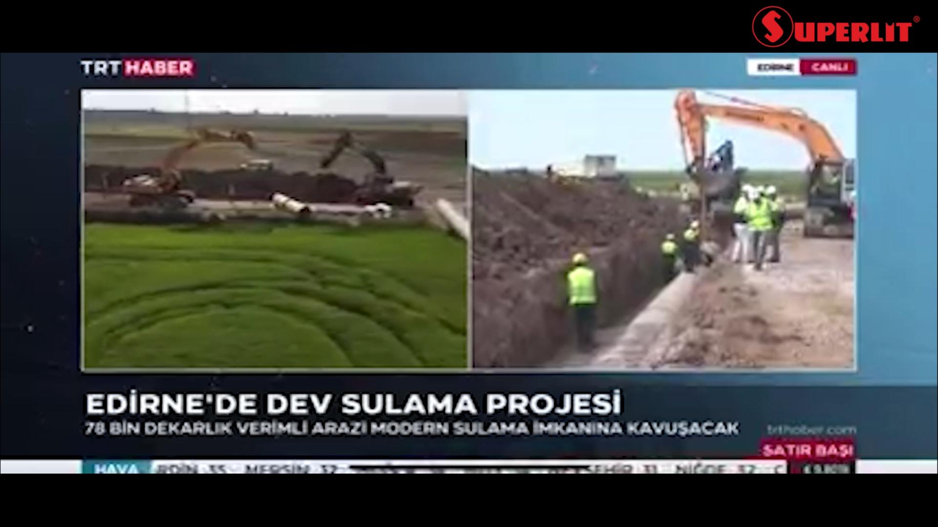 Edirne meriç sulaması projesi trt haber